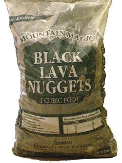 Mountain Magic Black Lava Nuggets Cubic Foot