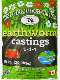 Badger Ridge Farms Earth Worms Castings
