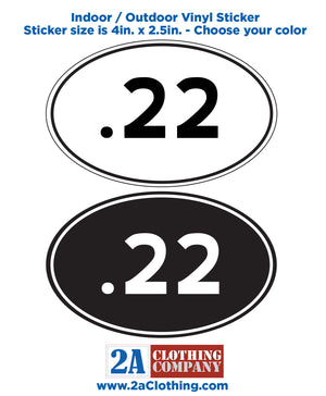 .22 Oval Sticker