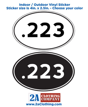 .223 Oval Sticker
