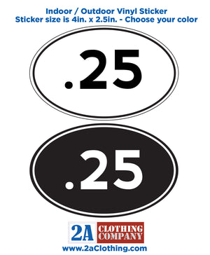 .25 Oval Sticker