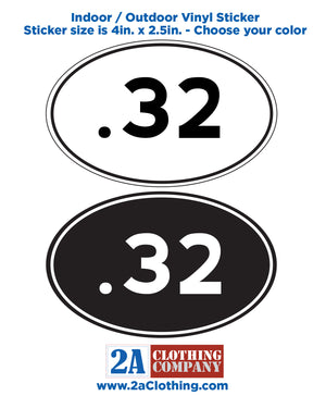 .32 Oval Sticker