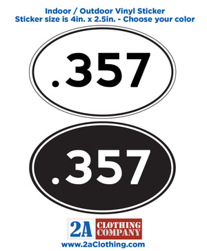 .357 Oval Sticker