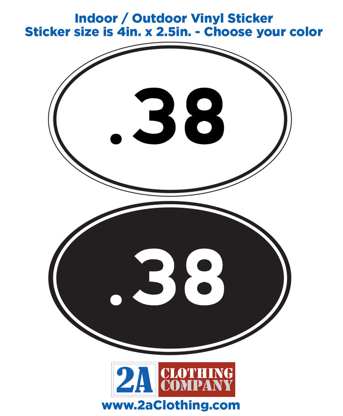 .38 Oval Sticker