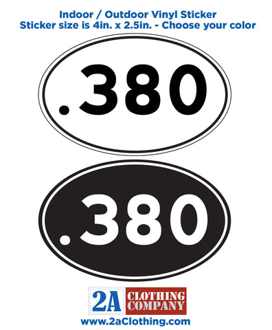 .380 Oval Sticker