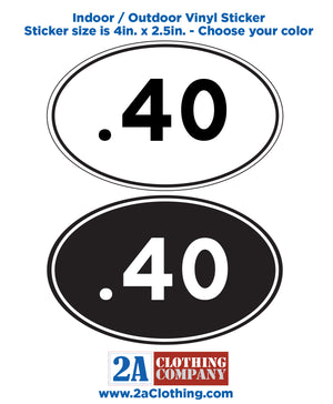 .40 Oval Sticker
