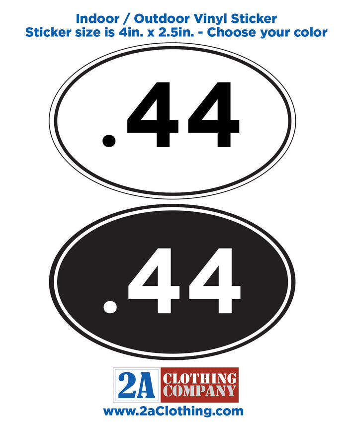 .44 Oval Sticker