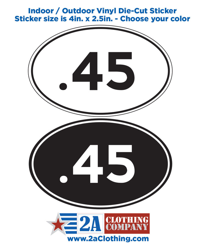 .45 Oval Sticker