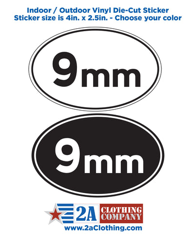 9mm Oval Sticker