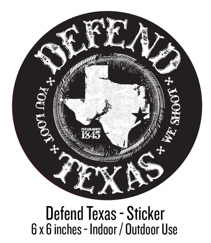 Defend Texas - Flood Relief - Oval Sticker