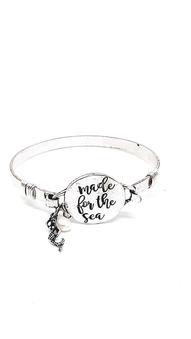 Were You Made For The Sea? Wire Bangle Bracelet