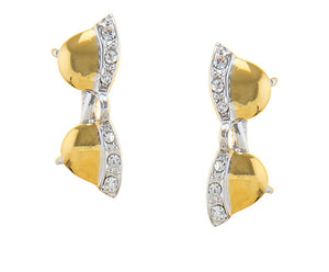 GOLD-TONE SHADES WITH BLING STUD EARRINGS