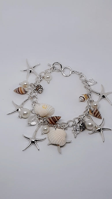 Shell & Starfish Lovers It Doesn't Get Better Or More Beautiful Seashell Theme Charm Bracelet
