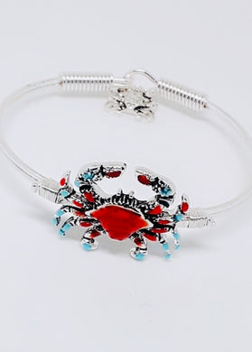 COLORFUL CRAB BANGLE BRACELET