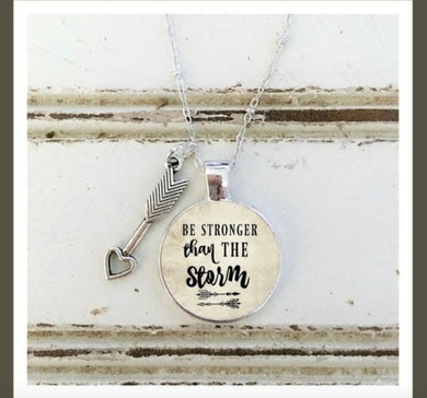 Be Stronger Than The Storm Silver-Tone Necklace