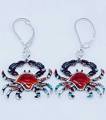 COLORFUL CRAB DROP EARRINGS