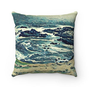 Off The Coast Spun Polyester Square Pillow by UnhingedArtistryShop