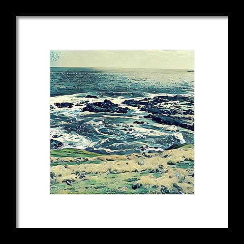 Off The Coast Of Australia - Framed Print