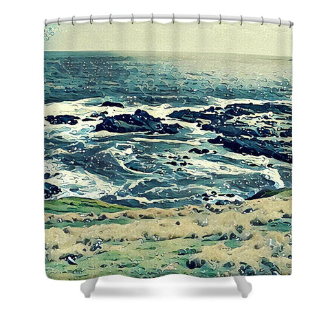 Off The Coast Of Australia - Shower Curtain