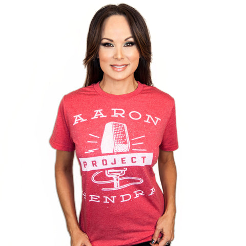 MICROPHONE T - RED HEATHER (UNISEX)
