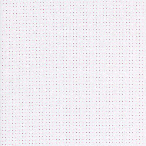Pink pin dots on white background.