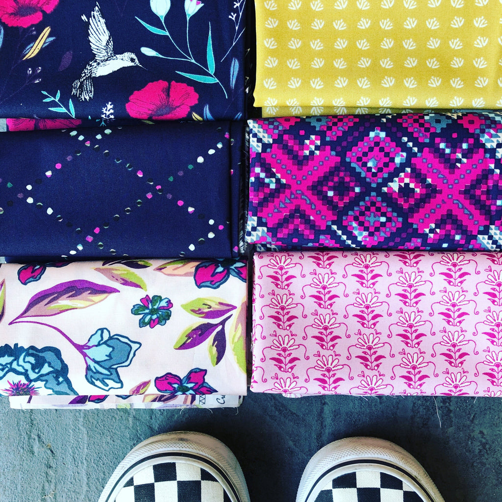 The May Half Stash - Grid fabric collection by Katarina Roccella from Art Gallery Fabrics