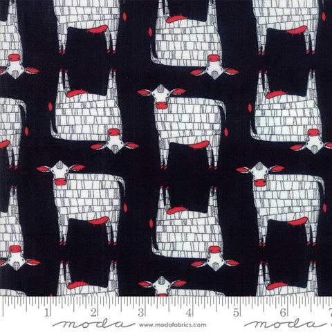 Moo in Kettle - Gingiber - Farm Fresh fabric collection