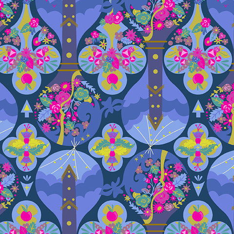 Treehouse in Night - Road Trip Fabric Collection - Alison Glass