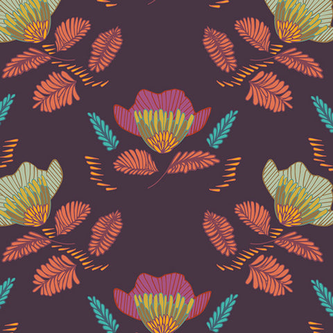 Pressed Ablossom in Royal - Art Gallery Fabrics - Autumn Vibes