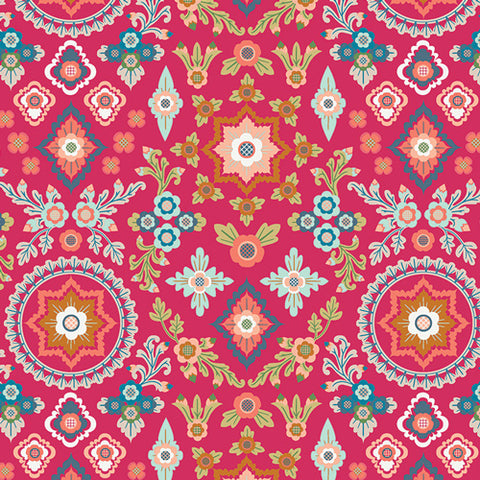 Aloha Spirit in Hibiscus - Art Gallery Fabrics - Aura Fabric Collection
