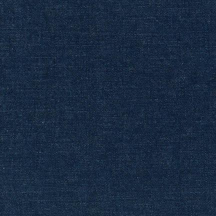 Cotton Linen Denim 6 oz. in Indigo - Robert Kaufman