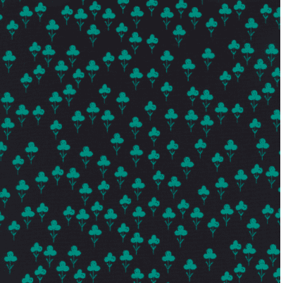 Clovers in Teal - Front Yard Fabric Collection - Sarah Watts - Cotton and Steel