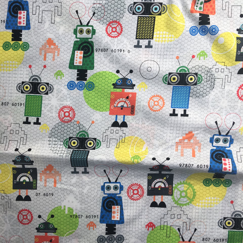 Robots in Multi - iBot - Red Rooster Fabrics