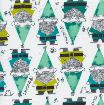 Gnomes in Green - Cotton and Steel - Sarah Watts - Front Yard Fabric Collection