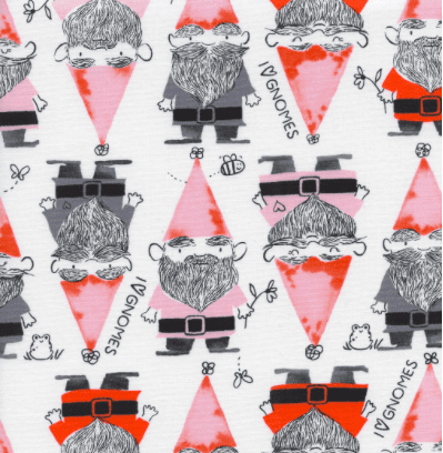 Gnomes in Red - Cotton and Steel - Sarah Watts - Front Yard Fabric Collection