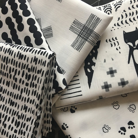 Black & White Half Metre Bundle - Art Gallery Fabrics