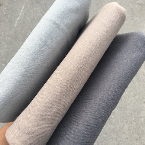 AGF Knit Solids in 3 shades of Grey Half Metre Bundle - Art Gallery Fabrics