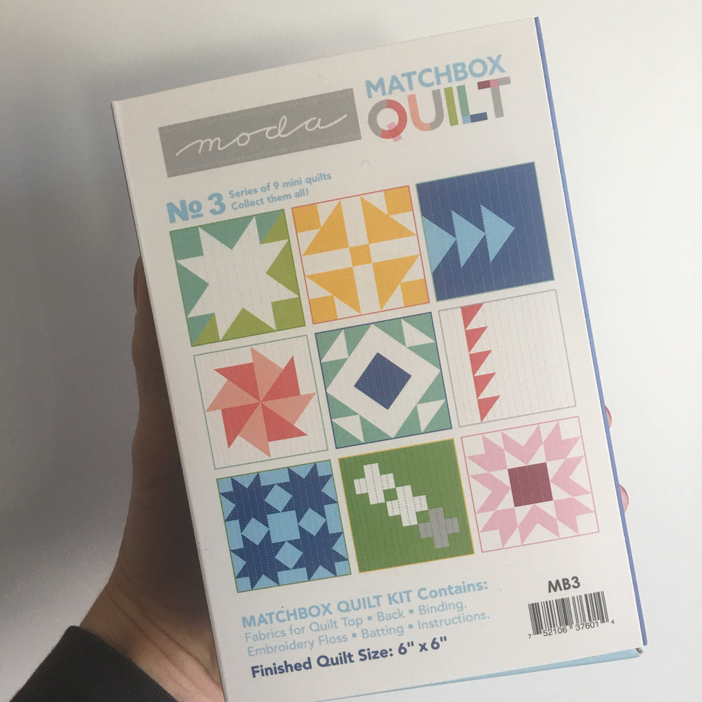 Moda Matchbox Quilt No. 3 Blue (Only 2 left in stock!)