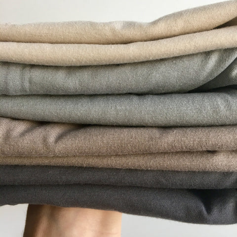 Neutral - AGF Knit Solids Half Metre Bundle - Art Gallery Fabrics