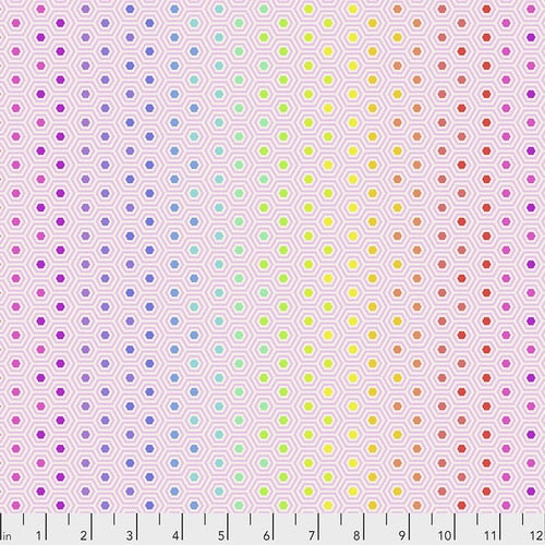 Hexi Rainbow in Shell - Tula Pink