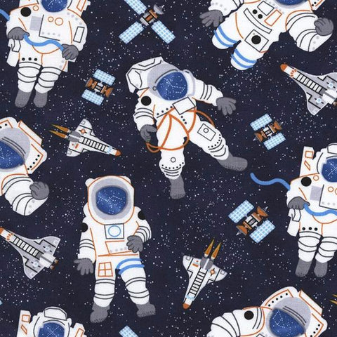 Astronauts in Navy - Timeless Treasures Fabric