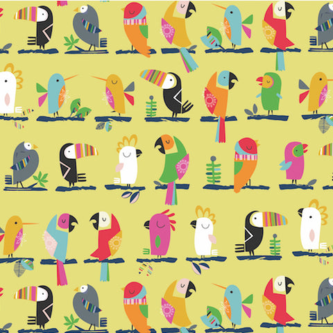 Toucans on Yellow - Dashwood Studio - Club Tropicana fabric collection