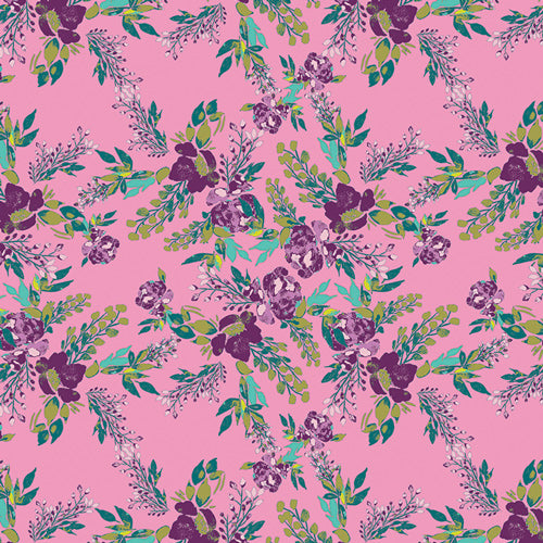 Episodic Blooms in Rosa - Art Gallery Fabrics - Virtuosa