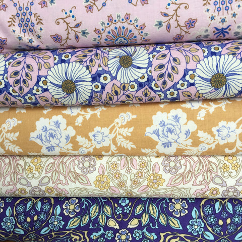 Folk Flora Half Metre Bundle - Margot Elena - Folk Flora fabric collection