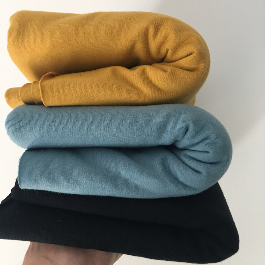 Blue/Yellow - AGF Knit Solids Half Metre Bundle - Art Gallery Fabrics