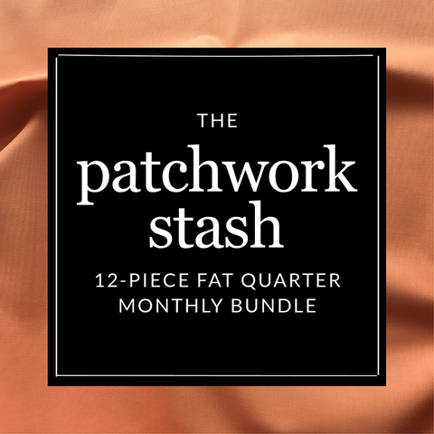 The Patchwork Stash - 12-piece clearance fat quarter bundle monthly fabric subscription - Fridays Off Fabric Shop