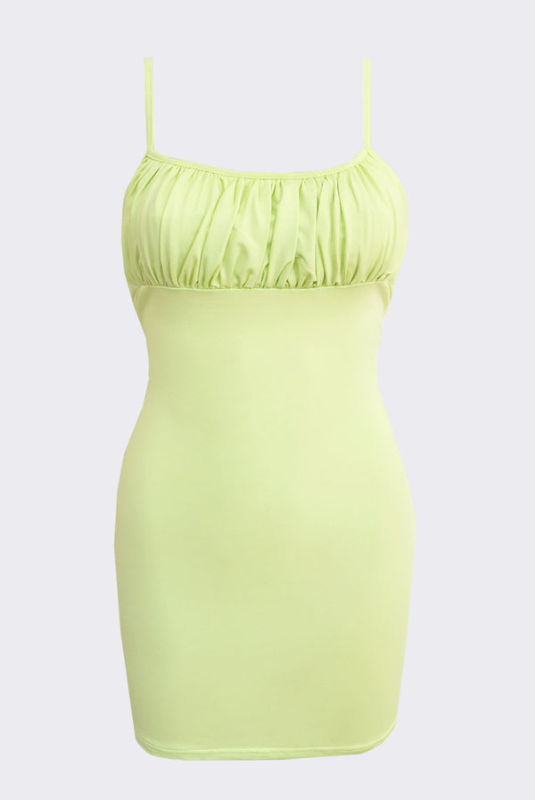 Covergirl Mini Dress / Lime