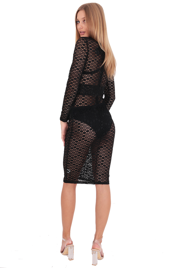 Domino Effect Dress / Black