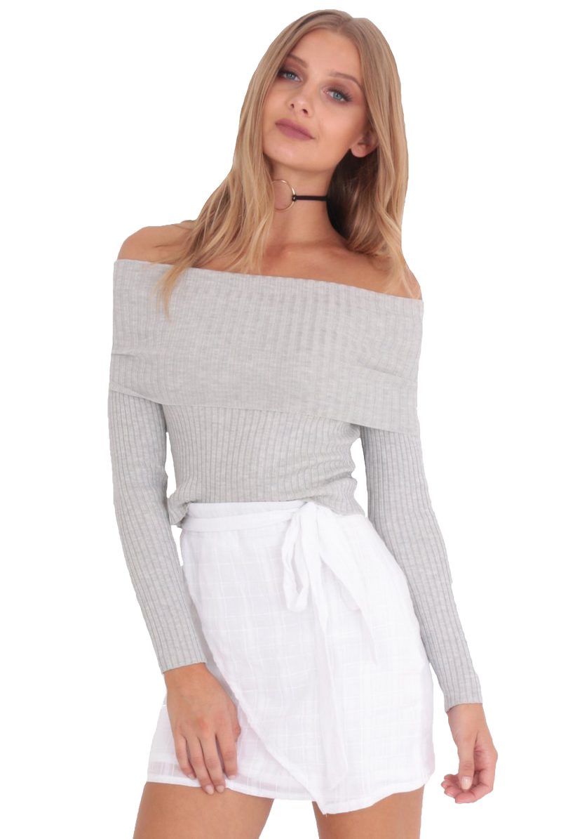 Love Lessons Top Bardot / Grey