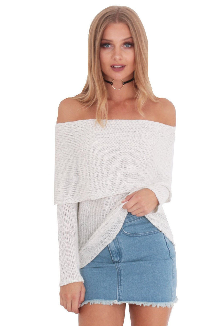 BABY'S BACK BARDOT KNIT